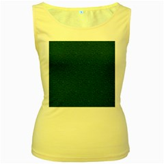 Texture Green Rush Easter Women s Yellow Tank Top