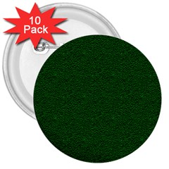 Texture Green Rush Easter 3  Buttons (10 pack)