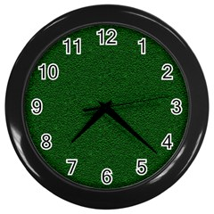 Texture Green Rush Easter Wall Clocks (Black)