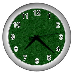 Texture Green Rush Easter Wall Clocks (Silver)