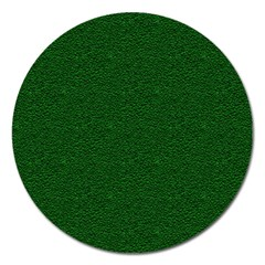 Texture Green Rush Easter Magnet 5  (Round)