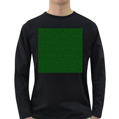 Texture Green Rush Easter Long Sleeve Dark T-Shirts