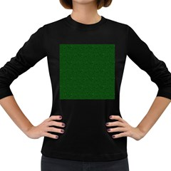 Texture Green Rush Easter Women s Long Sleeve Dark T-Shirts