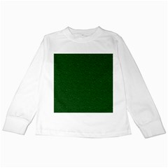Texture Green Rush Easter Kids Long Sleeve T-Shirts