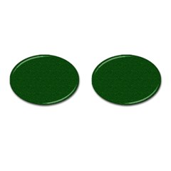 Texture Green Rush Easter Cufflinks (Oval)