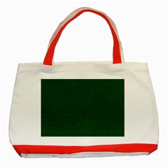 Texture Green Rush Easter Classic Tote Bag (Red)