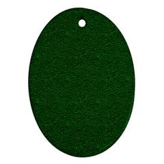 Texture Green Rush Easter Oval Ornament (Two Sides)
