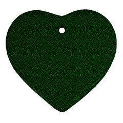 Texture Green Rush Easter Heart Ornament (Two Sides)