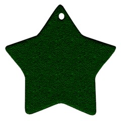 Texture Green Rush Easter Star Ornament (Two Sides)