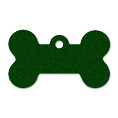 Texture Green Rush Easter Dog Tag Bone (Two Sides)