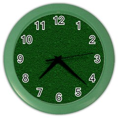 Texture Green Rush Easter Color Wall Clocks