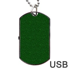 Texture Green Rush Easter Dog Tag USB Flash (Two Sides)