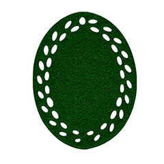 Texture Green Rush Easter Oval Filigree Ornament (Two Sides)