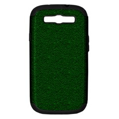 Texture Green Rush Easter Samsung Galaxy S Iii Hardshell Case (pc+silicone) by Simbadda