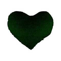 Texture Green Rush Easter Standard 16  Premium Heart Shape Cushions