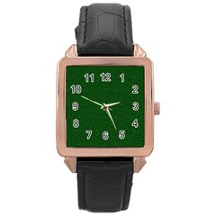 Texture Green Rush Easter Rose Gold Leather Watch