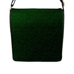 Texture Green Rush Easter Flap Messenger Bag (L)