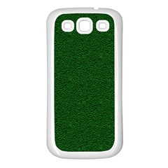 Texture Green Rush Easter Samsung Galaxy S3 Back Case (white) by Simbadda