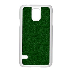 Texture Green Rush Easter Samsung Galaxy S5 Case (white) by Simbadda