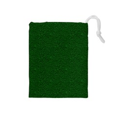 Texture Green Rush Easter Drawstring Pouches (Medium)