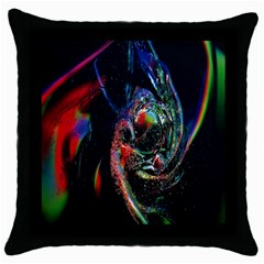 Abstraction Dive From Inside Throw Pillow Case (black)