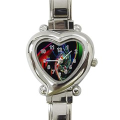 Abstraction Dive From Inside Heart Italian Charm Watch by Simbadda