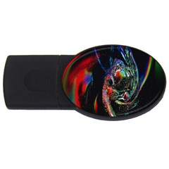 Abstraction Dive From Inside Usb Flash Drive Oval (4 Gb) by Simbadda