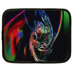 Abstraction Dive From Inside Netbook Case (large) by Simbadda