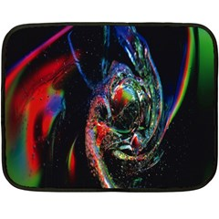 Abstraction Dive From Inside Fleece Blanket (mini) by Simbadda