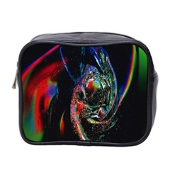 Abstraction Dive From Inside Mini Toiletries Bag 2 Side by Simbadda
