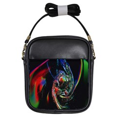 Abstraction Dive From Inside Girls Sling Bags by Simbadda