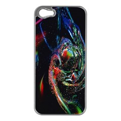 Abstraction Dive From Inside Apple Iphone 5 Case (silver) by Simbadda