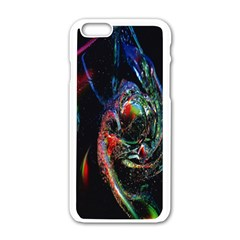 Abstraction Dive From Inside Apple Iphone 6/6s White Enamel Case by Simbadda