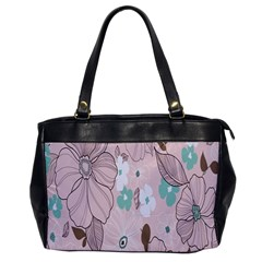 Background Texture Flowers Leaves Buds Office Handbags by Simbadda