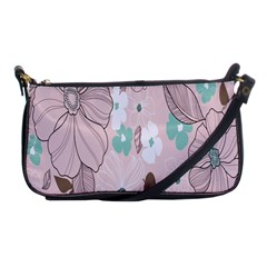 Background Texture Flowers Leaves Buds Shoulder Clutch Bags