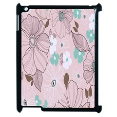 Background Texture Flowers Leaves Buds Apple Ipad 2 Case (black) by Simbadda