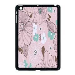 Background Texture Flowers Leaves Buds Apple Ipad Mini Case (black) by Simbadda