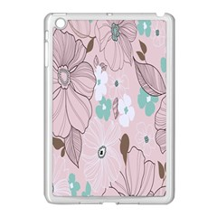 Background Texture Flowers Leaves Buds Apple Ipad Mini Case (white)