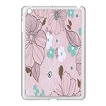 Background Texture Flowers Leaves Buds Apple iPad Mini Case (White) Front