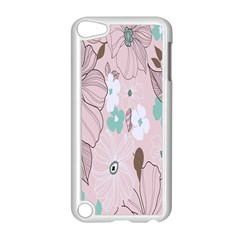 Background Texture Flowers Leaves Buds Apple Ipod Touch 5 Case (white) by Simbadda