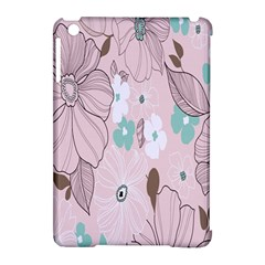 Background Texture Flowers Leaves Buds Apple Ipad Mini Hardshell Case (compatible With Smart Cover) by Simbadda
