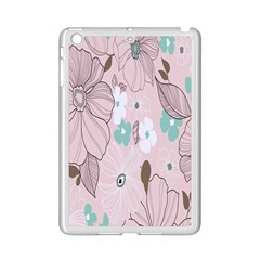 Background Texture Flowers Leaves Buds Ipad Mini 2 Enamel Coated Cases by Simbadda