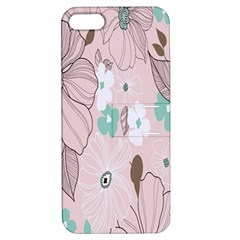 Background Texture Flowers Leaves Buds Apple Iphone 5 Hardshell Case With Stand by Simbadda