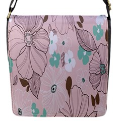 Background Texture Flowers Leaves Buds Flap Messenger Bag (s)