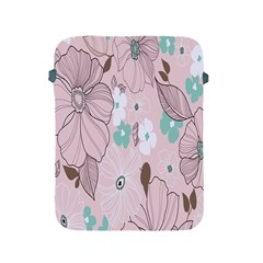 Background Texture Flowers Leaves Buds Apple Ipad 2/3/4 Protective Soft Cases