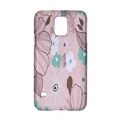 Background Texture Flowers Leaves Buds Samsung Galaxy S5 Hardshell Case  by Simbadda