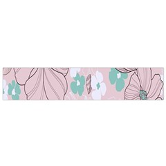 Background Texture Flowers Leaves Buds Flano Scarf (small) by Simbadda