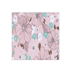 Background Texture Flowers Leaves Buds Satin Bandana Scarf by Simbadda