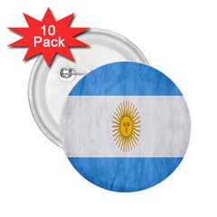 Argentina Texture Background 2 25  Buttons (10 Pack)  by Simbadda