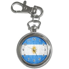 Argentina Texture Background Key Chain Watches by Simbadda